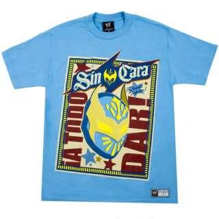 Sin Cara Bienvenido WWE Light Blue T Shirt New
