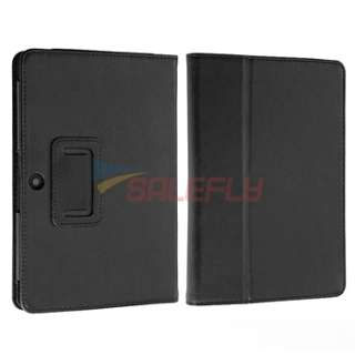 Blk Leather Wallet Case Cover For Blackberry Playbook New