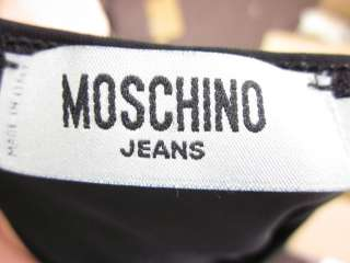 MOSCHINO JEANS Black Beaded Detail Halter Top Shirt 8