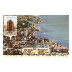 Allerton Hotel, Chicago, Illinois Travel Premium Poster