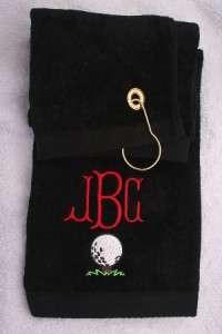 Personalized Monogrammed Sports, Golf Towel Groomsmen