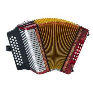 Hohner Accordions 3500AR 43 Key Accordion: Musical