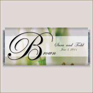 Monogram Wedding Personalized Candy Wrapper Favors