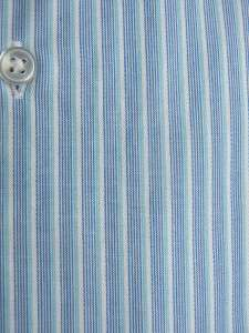 NWT MENS CALVIN KLEIN Cotton Reg. Fit Dress Shirt BLUE STRIPE