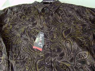 Mens Wrangler Rock 47 Shirt black long sleeve shirt NWT $58 retail any