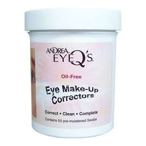 ANDREA Eye Qs Oil Free Eye Make Up Correctors (Qty 50 Pre Moistened