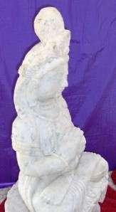 Quan Yin Marble Statue Vintage Asia 150+lbs Kwan Kuan