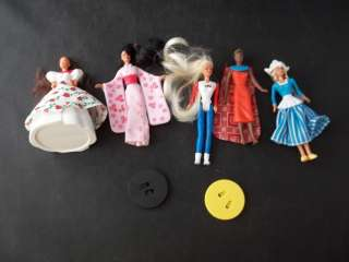 Happy Meal Barbie Dolls of the World Toys 7 Pieces July 1996