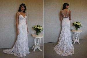 New white/ivory lace wedding dress custom size 2 4 6 8 10 12 14 16 18