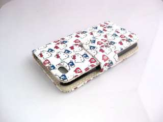 WHITE CARTOON LEATHER CASE HOLDER APPLE IPOD 4G TOUCH 4
