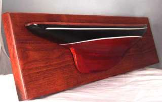 Half Hull Model Yacht Endeavour Americas Cup Boat