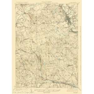 USGS TOPO MAP CONCORD QUAD NEW HAMPSHIRE (NH) 1927
