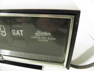 Vintage Modern Retro Flip Clock Alarm Daily Calendar Linden Model 967