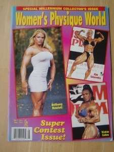WOMENS PHYSIQUE WORLD female muscle magazine /KIM CHIZEVSKY/VICKIE