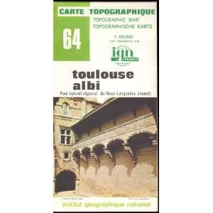 Map 64 France Toulouse Albi Carte Topographique: none: Books