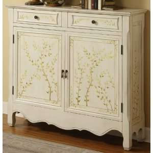White Hand Painted 2 Door Console