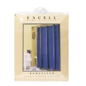 GLUCKSTEINHOME Hemstitch Shower Curtain more colors available