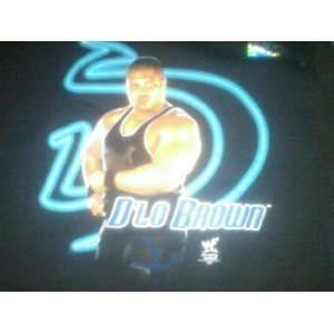 Black T Shirt of DLo Brown WWE WCW TNA ECW Pick Up Your Punk Card