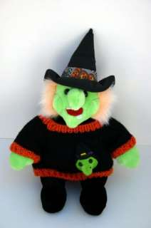 Cute Plush Witch Doll Sweater Witch Head Plush Stuffed