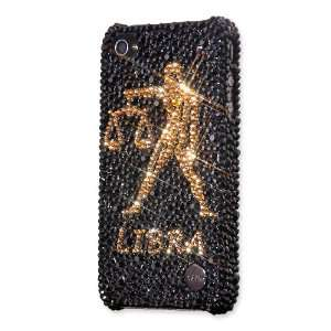 Libra Swarovski Crystal iPhone 4 Case   Black Gold