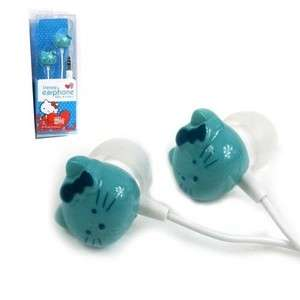 Cute Blue Hello Kitty Earphone Headset 4 Ipod/PC/MAC//MP4