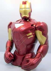 Iron Man 3D Figure Money Holder Coin Bank 7 1/2 Tall Kids Gift