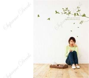 Branches and birds removable vinyl art wall decals home