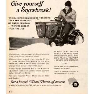1966 Ad Wheel Horse Homechore Tractors Snowblowers Snow