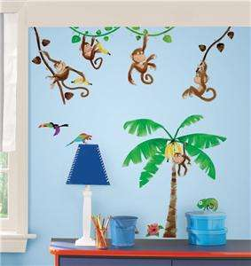 44 New MONKEY WALL DECALS Kids Stickers Monkies Decor 034878119250