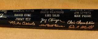 1996 New York Yankees World Series Black Bat NM MT+