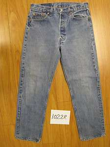 levis blue 501 button fly jean USA jeans 34x32 1022R
