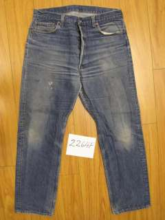 Destroyed levis 501 feathered jean USA tag 38x34 2264F