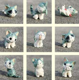 Cartoon Chis Sweet Home Cute Cat Figures Animal 9 PCs