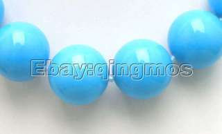 BIG 20mm Natural Blue Round Turquoise Necklace 5435