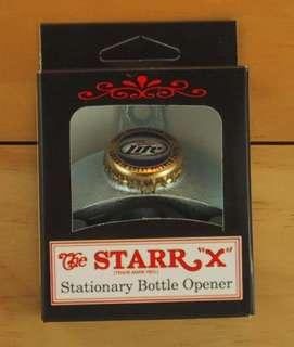 MILLER LITE Beer BOTTLE CAP Starr X Wall Mount Opener