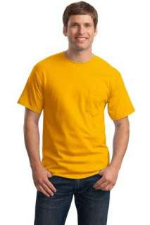 Hanes   Tagless 100% Cotton T Shirt with Pocket. 5590