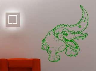 STUNNING CROCODILE KIDS CHILDRENS wall art sticker vinyl BEDROOM