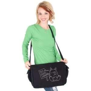Do Not Feed Monster Grey Messenger Bag