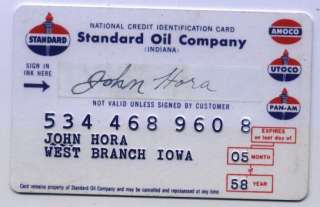 STANDARD OIL COMPANY INDIANA Vintage Credit Card
