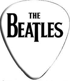 BEATLES 1960s Rock & Roll Band NAME LOGO GUITAR PICK