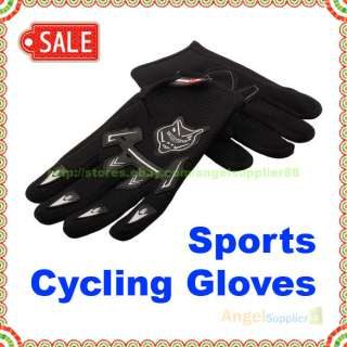 Sport Bicycle Bike Full Finger Cycling Gloves Mesh B A