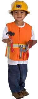 Boys Construction Vest Halloween Costume Set Age 3 6yr