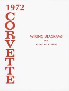 CORVETTE 1972 Wiring Diagram 72 Vette