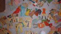 HUGE lot the biggest collection vintage paper dolls clothes woman girl