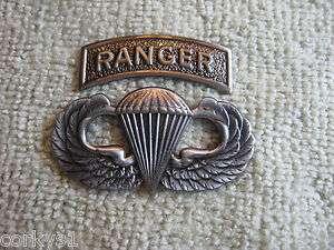 Ranger Jump Wings & Tab Badges 75th Parachute Pin US Army Ranger Pin