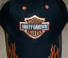 Harley Davidson Motorcycles Black Ball Cap Biker Hat