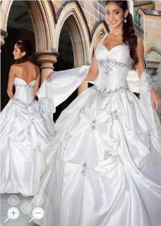 New Stock White Halter Formal Prom Party Gown Evening Dress Wedding