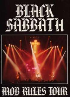 Concert program for the second leg of the BLACK SABBATH 1982 1983 MOB