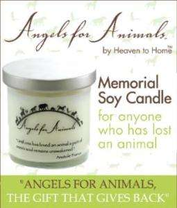 PET Dog Cat MEMORIAL Glass Jar 9 oz Soy CANDLE 60hr NEW