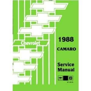 1988 CHEVROLET CAMARO Shop Service Repair Manual Book